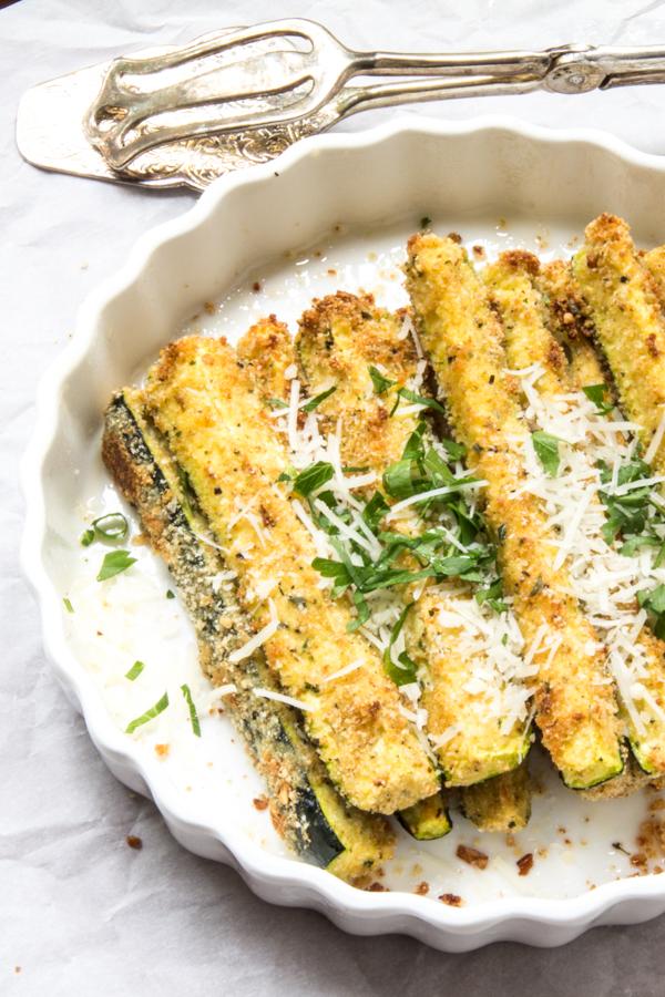 Parmesan zesty zucchini sticks