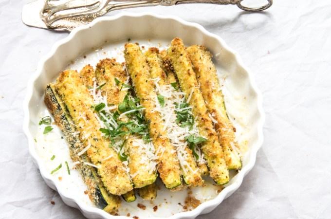Zesty Parmesan Baked Zucchini Sticks