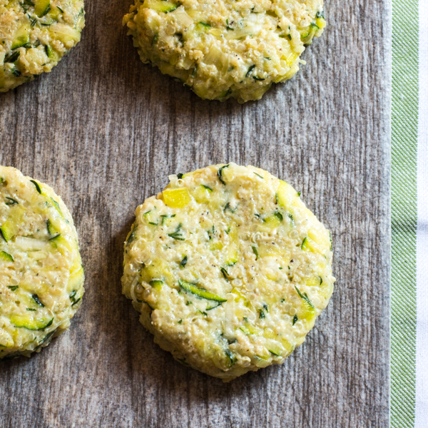 Zucchini fritters ready to be cooked