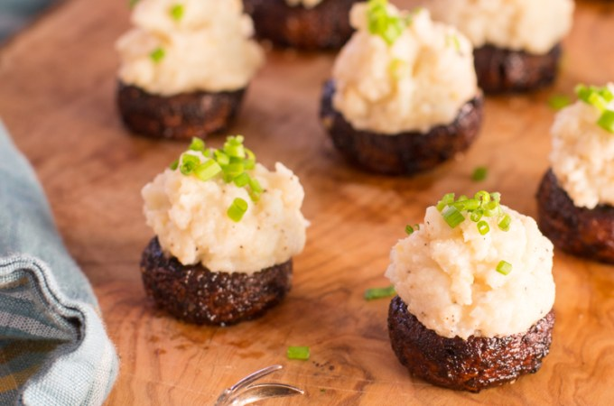 Miso Mashed Idaho® Potato Stuffed Mushrooms