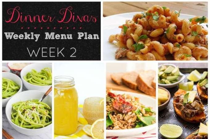 Dinner Divas Weekly Meal Plan (with vegetarian versions!): Week 2