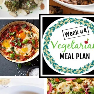 Weekly vegetarian meal plan with tips for omnivores at the table, including tips for meal planning, and prep ahead tips to make dinner easy this week. #EatingClean #HealthyVegetarian #VegetarianRecipes #VegetarianMealPlan #MealPlan #WeeklyMealPlan #lentilsrecipes #mushrooms #risotto #cauliflower #healthyrecipe