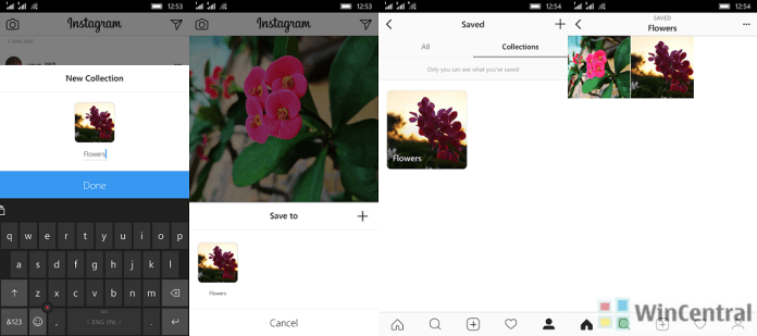 Instagram saved collections feature
