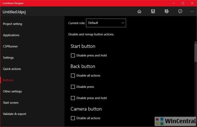 Lockdown Designer app for Windows 10 PC