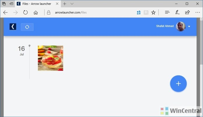 Arrow launcher Web Hub