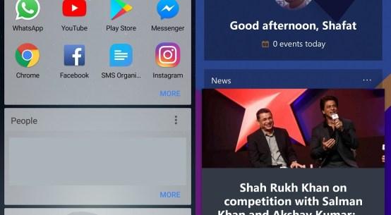 Microsoft Launcher News Feed Comparison