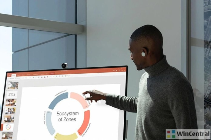 Surface Ear Buds and PowerPoint Presentation