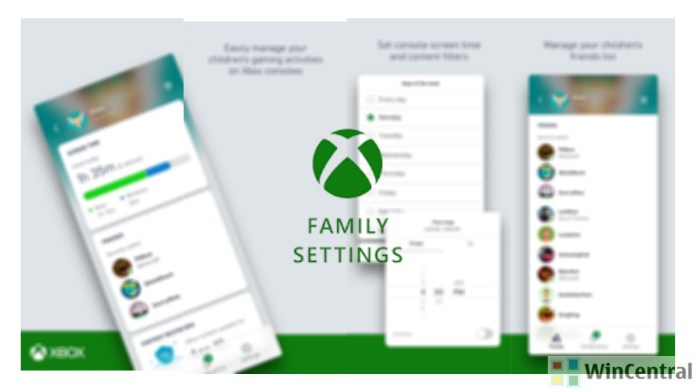 New Xbox Family Settings app