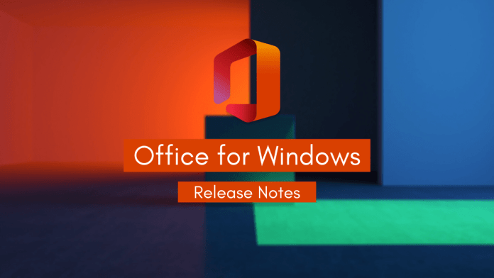 Office for Windows Release Notes