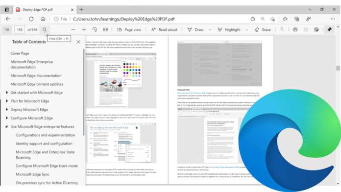 PDF reader in Microsoft Edge