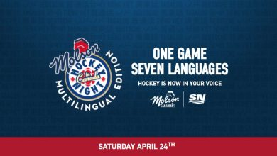 Molson Presents Hockey Night In Canada Multilingual Edition in partnership with Sportsnet, Saturday April 24, 2021.