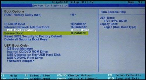 The system has detected unauthorized changes to the firmware, operating system, or UEFI drivers.