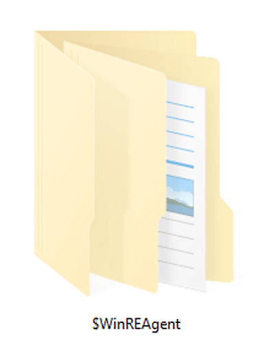 $ WinREAgent folder
