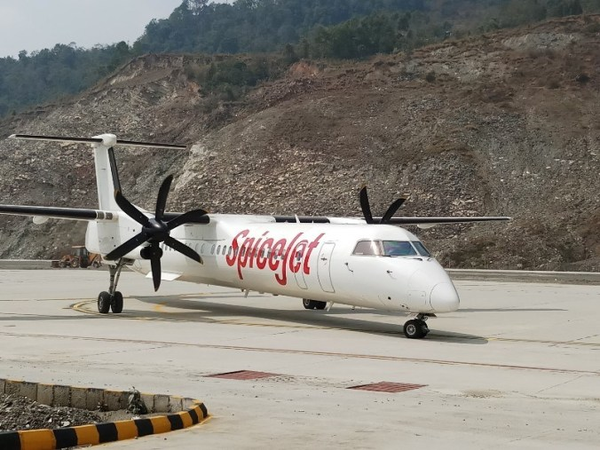 Spicejet at Sikkim airport