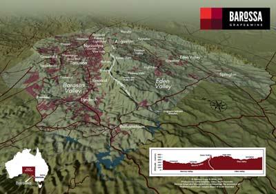 The elevation change helps define Eden Valley