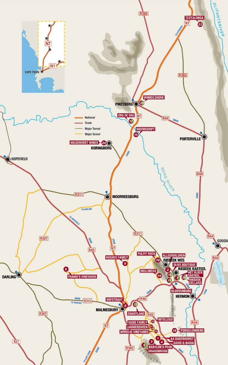 The Swartland Wine and Olives Route