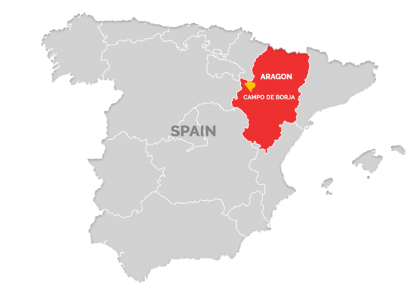 Campo de Borja is just to the southeast of La Rioja and immediately south of Navarra