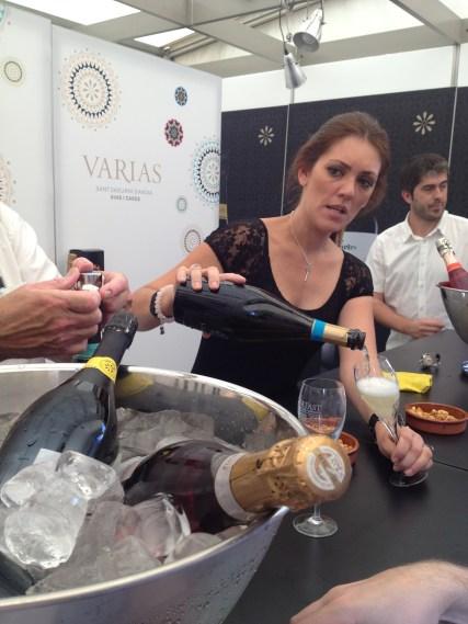 Sampling at the Varias stand