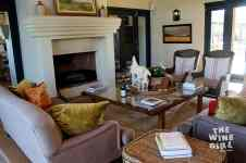 Seating by the fireplace