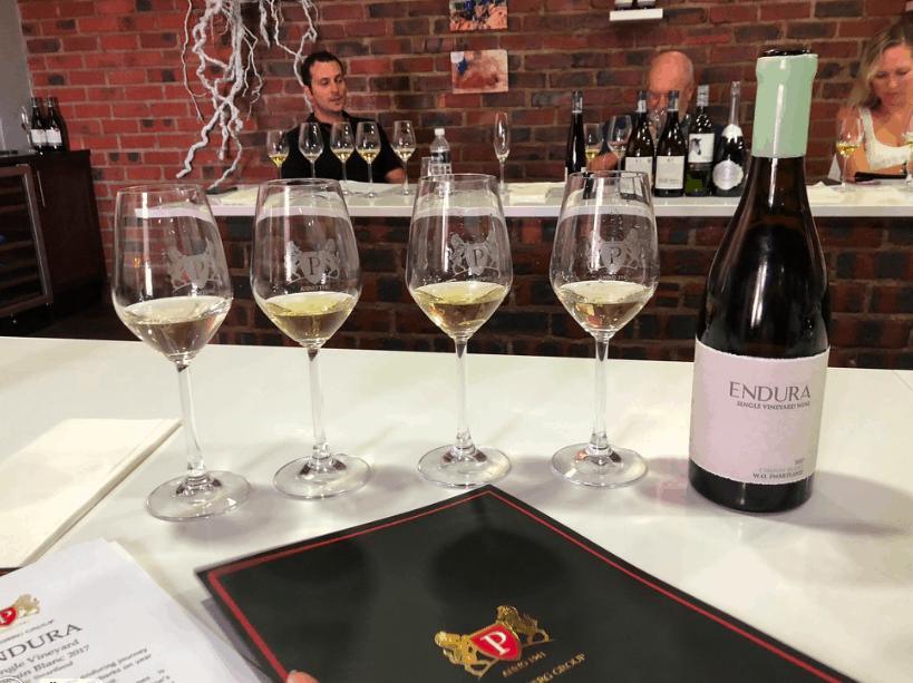 Lavenir wine tasting setting