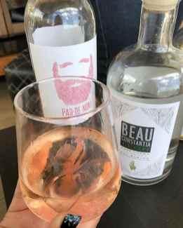 Beau Constantia rose cocktail