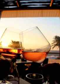 Chin Chilla Camps Bay sunset cheeers