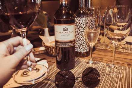 Anthonij Rupert Terra del Capo Sangiovese wine tasting