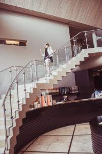 Anthonij Rupert Wyne Terra del Capo staircase franschhoek