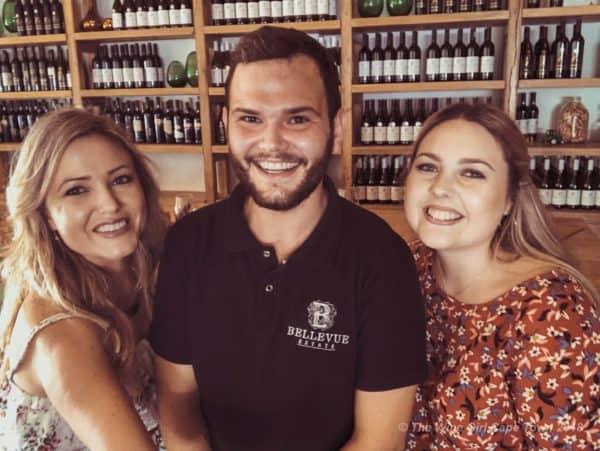 Bellevue wine tasting staff