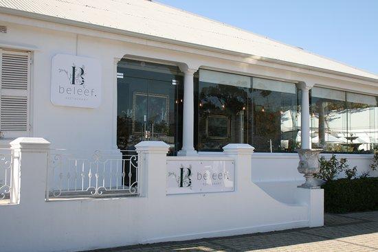 Beleef restaurant Franschhoek wine valley