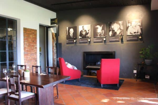 Alto Wines Stellenbosch tasting room fireplace