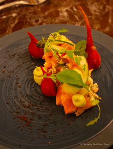 Lanzerac Wine Estate Manor Kitchen salmon starter
