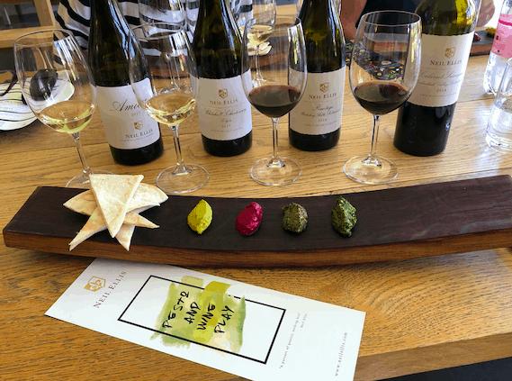 Neil Ellis Pesto and Wine Pairing Stellenbosch South Africa