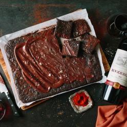 Roodeberg Wine Chocolate brownie recipe