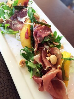 Peaches and Country Ham Salad - Harvest Table Saint Helena