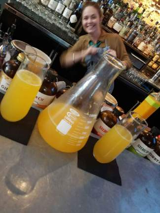 Fun with a 'Beaker of Bubbles' - Cook Tavern Brunch