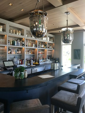 The bar and lounge area at Acacia House