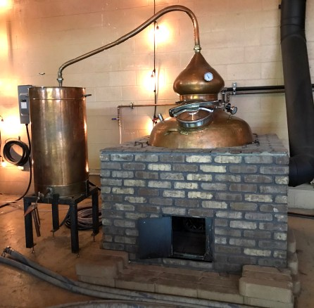 The alembic pot-style still - One of three still at the Napa Valley Distillery