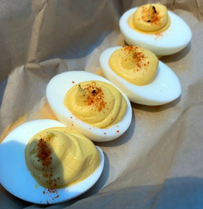 Traditional Deviled Eggs - One of the popular side dishes on the menu - Roadside 29