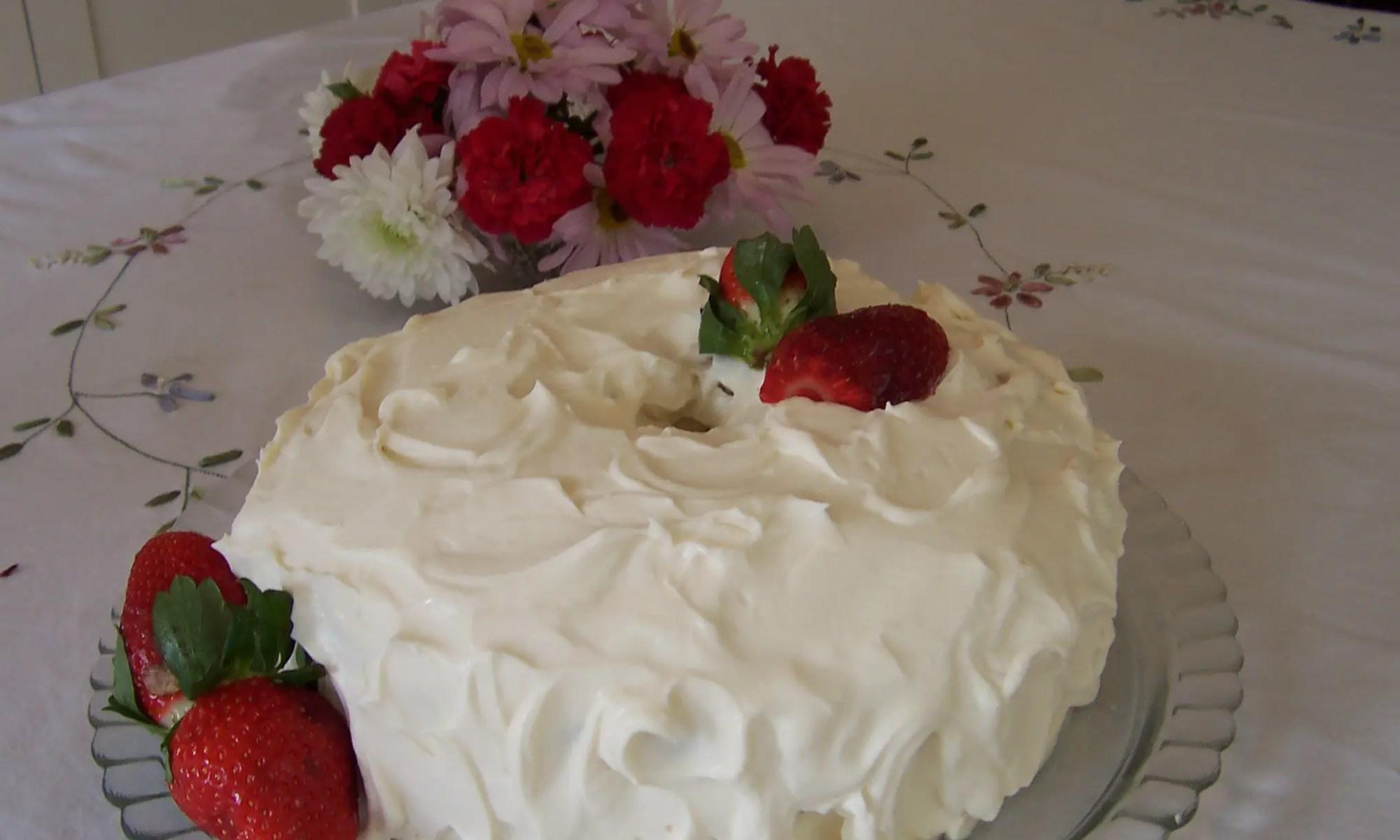 Classic Vanilla Layer Cake with Mascarpone Icing