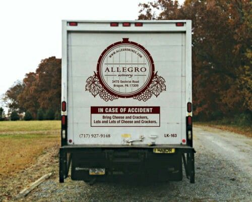 Wine Delivery Truck