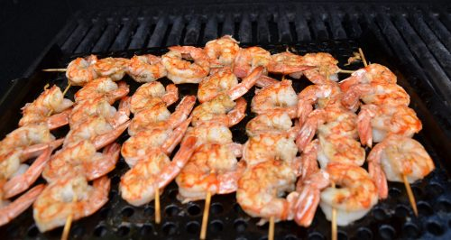 Grilled Argentinian Shrimp With Spicy Tartar Sauce