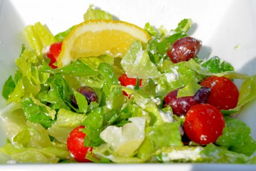Greek Salad with Creamy Feta Dressing