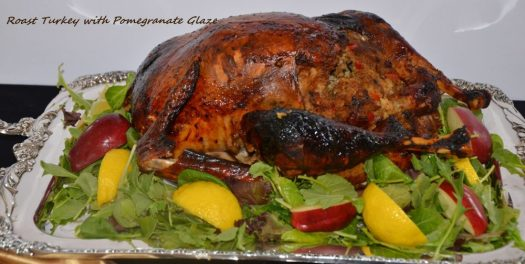 This Roast Turkey with Pomegranate Glaze uses a pomegranate molasses glaze  and then it does double duty in the sauce for your turkey! What a depth of flavour!