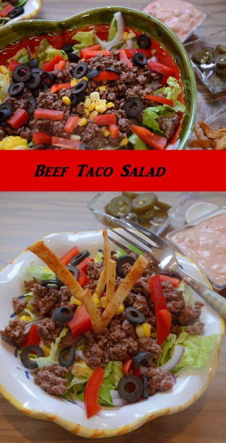 This Beef Taco Salad makes a satisfying meal in winter or summer. Low carb, high flavor, filling - it's a win for me! Think nacho fixin's on lettuce and get creative!