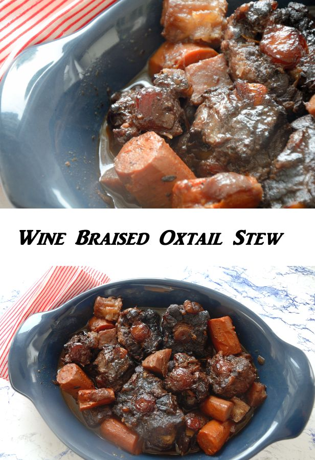 This Wine Braised Oxtail Stew is a perfect make ahead dish- it improves with flavor if you cook it one day and serve the next. You can make it and serve it same day if you like though.