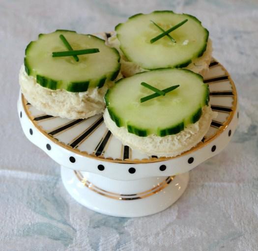 Open Faced Cucumber Tea Sandwiches