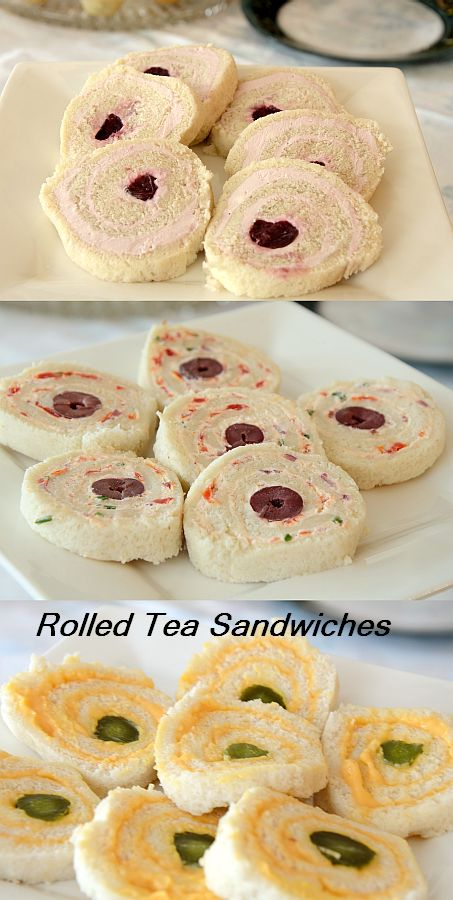 These dainty rolled tea sandwiches are a throwback to the 60s but I think they stand the test of time. Simple, elegant and filling...