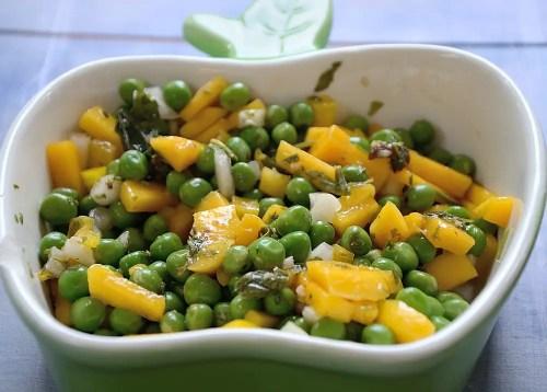 Savoury Fresh Pea Salad