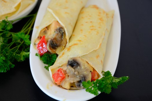 Chicken in White Wine Crepes
